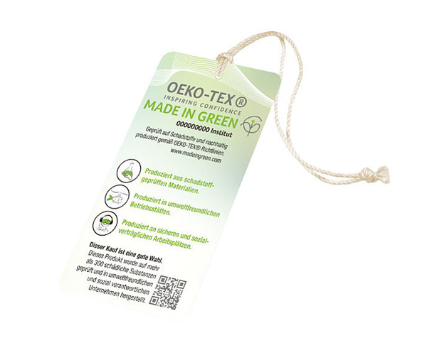 Crestyle | MADE IN GREEN by OEKO-TEX® | Label