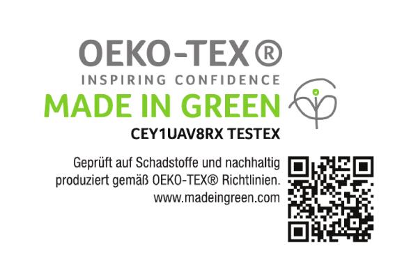 Crestyle | MADE IN GREEN Logo mit QR Code